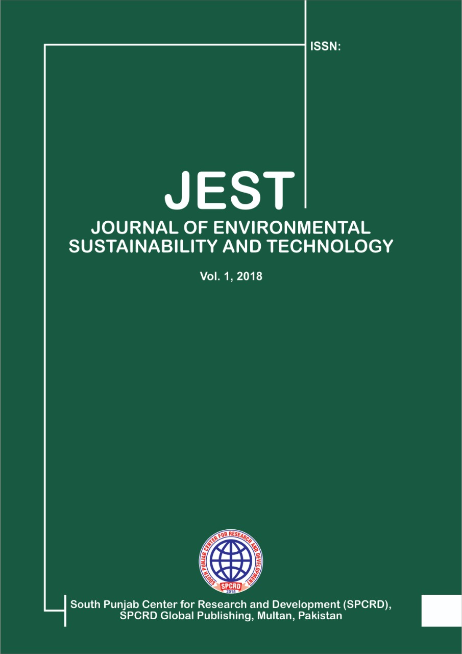 View Vol. 1 No. 1 (2019): Journal Of Environmental Sustainability and Technology
